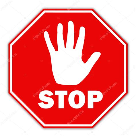 Stop With The by Stop Schild Stockfoto 11085567