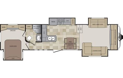 cougar 5th wheel floor plans 2015 keystone cougar 337fls fifth wheel selma tx