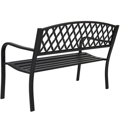 steel bench frame bcp 50 quot patio garden bench park yard outdoor furniture steel frame porch chair ebay