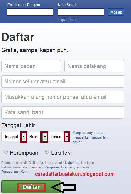 fb yahoo buat akun facebook baru daftar akun fb menggunakan akun