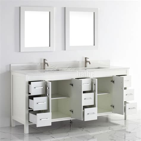 Studio Bathe Corniche 75 Inch Double Bathroom Vanity White
