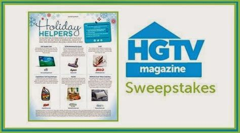 Hgtv Magazine Sweepstakes - hgtv magazine holiday helpers sweepstakes sweepstakesbible
