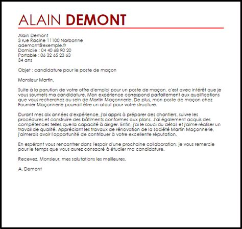 Exemple De Lettre De Motivation Franc Maçon Exemple Lettre De Motivation Ma 231 On Livecareer