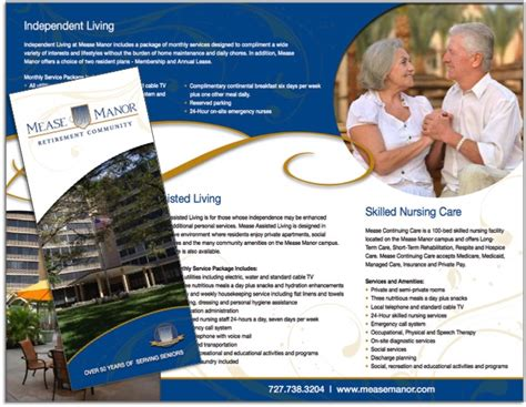 sample flyers for marketing assisted living amp retirement community brochure samples