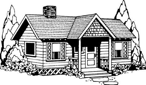 White House Home Page Realistic Black And White House Clipart Cliparts And