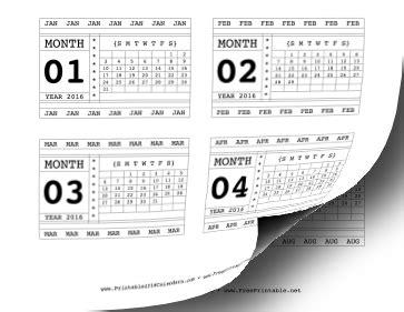 printable calendar 2016 horizontal printable 2016 horizontal scrapbook calendar cards
