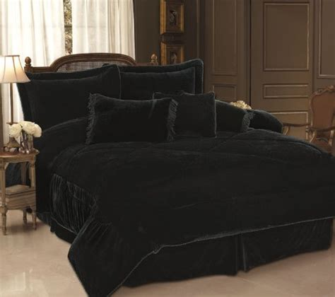 black bed set gothic bedding set