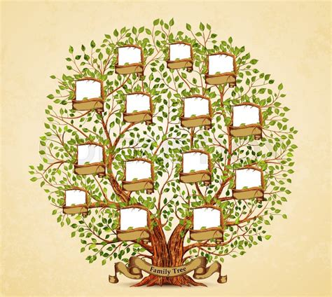 Family Tree Template Vintage Vector Illustration Stock Vector Colourbox Family Tree Stock Illustrations 25 863 Family Tree Stock Illustrations Vectors Clipart