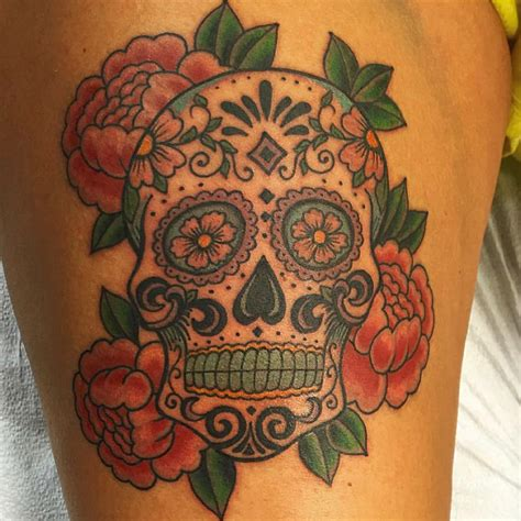 little tattoo studio traditional sugar skull