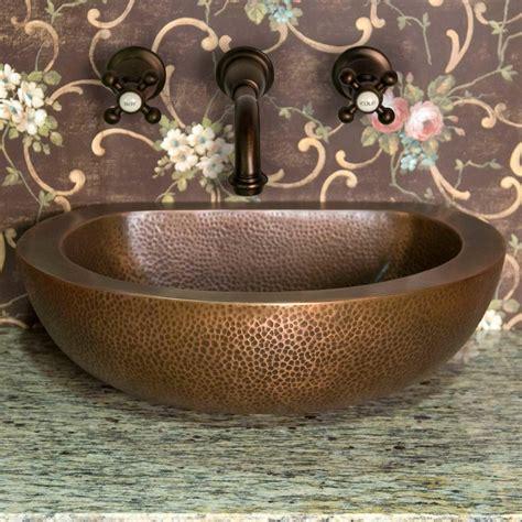 copper vessel sinks ebay signature hardware brienna double wall hammered copper