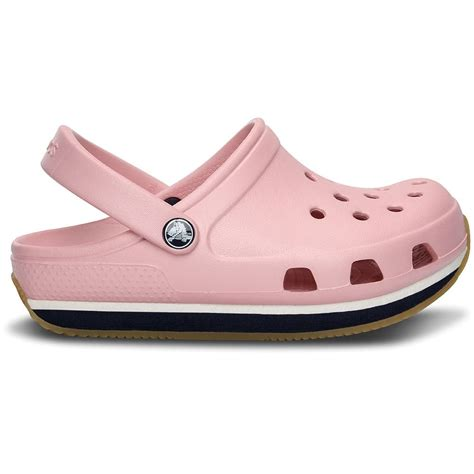 clog shoes for crocs retro clog petal pink navy slip on shoe with