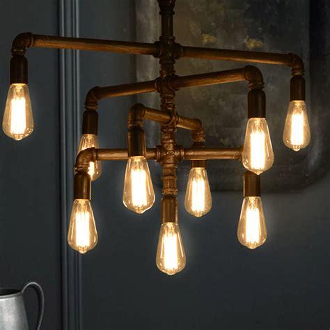 Industrial Loft Iron Pipe Ceiling Pendant Lights Hanging Edison Bulb Chandelier