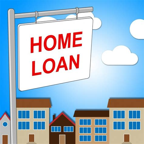 stock   home loan sign represents signs