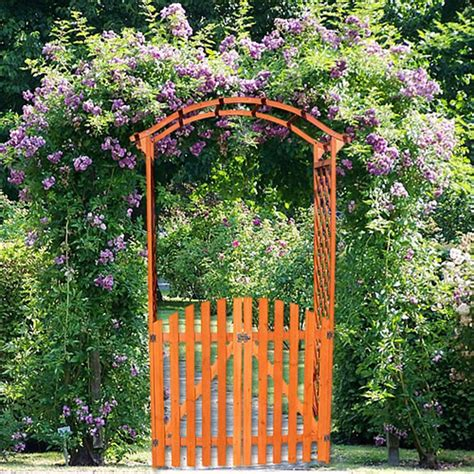 pergola rosenbogen rankhilfe holz torbogen bvrao - Rosenbogen Mit Tor Holz