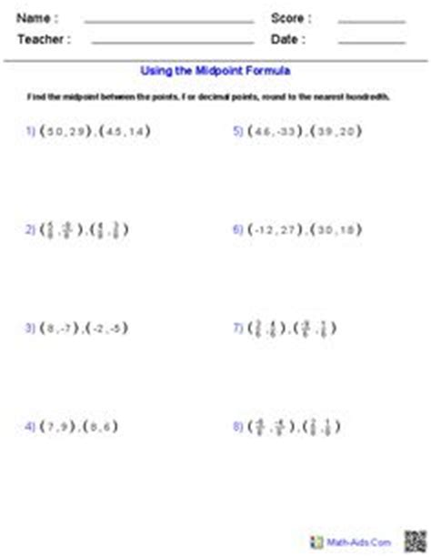 using the distance formula | math aids.com | pinterest
