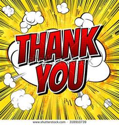 super thank you comic book style stock vector 318910724