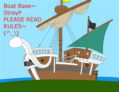 ship base one piece by strayp on deviantart - Anime Boat Names