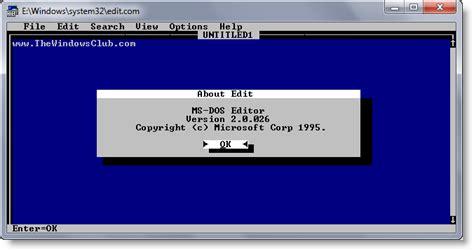 editing keyboard layout windows 7 ms dos editor the hidden text editor in windows operating