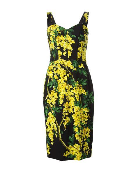 Dres Gabbana Dolce lyst dolce gabbana acacia print dress in yellow
