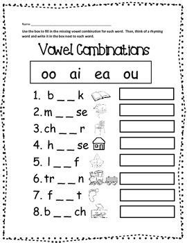 Vowel Team Worksheets by Enjoy This Free Worksheet To Practice And Reinforce Those