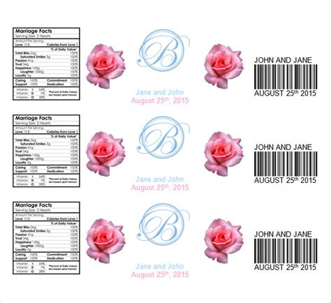 bottle label templates water bottle label template 23 in psd word