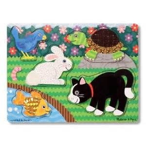 melissa & doug pets touch & feel puzzle + free stickers