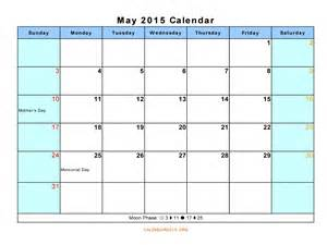 Calendar With Holidays 2015 May 2015 Calendar With Holidays Gallery