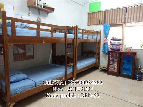 Tempat Tidur No 4 tempat tidur dipan susun tingkat anak asrama murah klasik