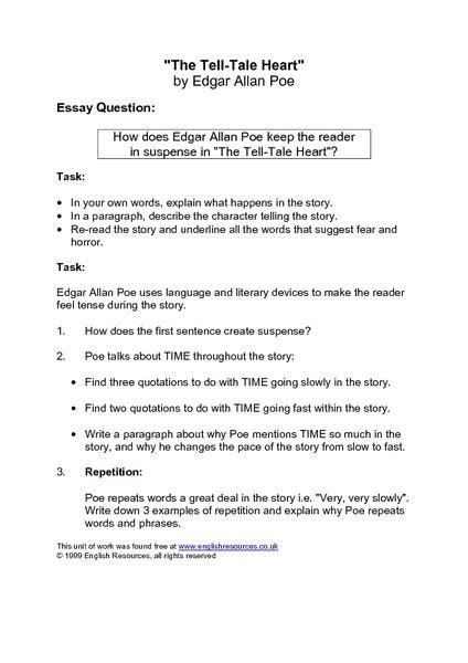 Poe The Essay Questions by Edgar Allan Poe Essay Topics