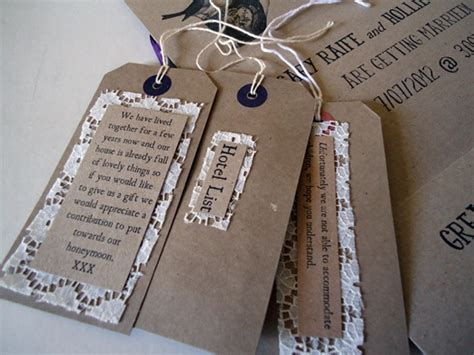 luggage tag invitation template rustic shabby chic wedding stationery with brown card