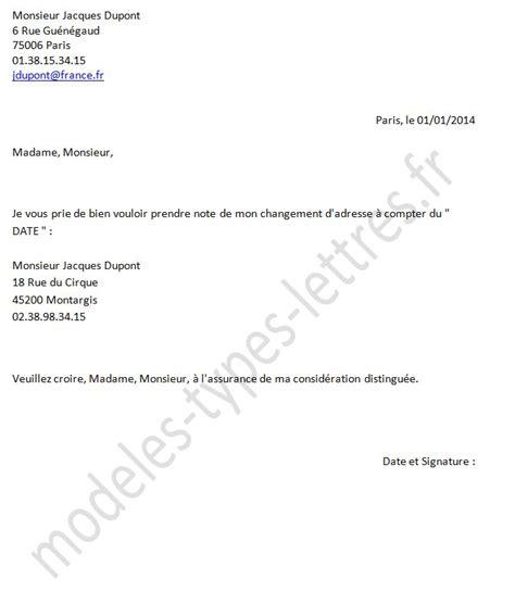 Exemple De Lettre Changement D Adresse Mod 232 Les De Lettre Concernant Un Changement D Adresse