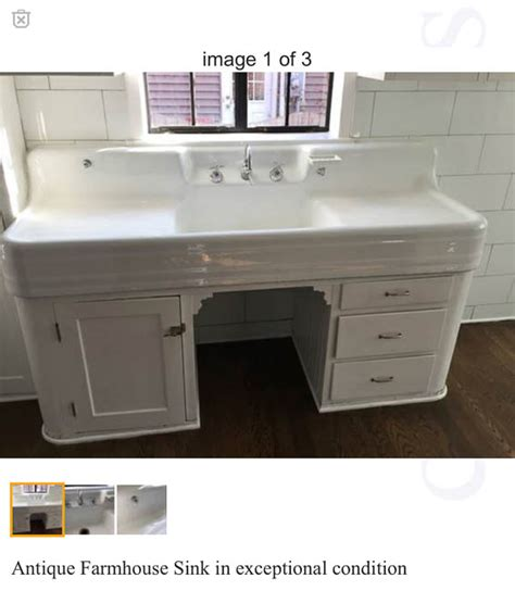 a vintage kitchen sink
