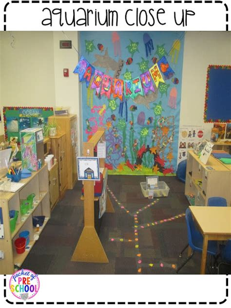 theme center themes aquarium theme in the dramatic play center pocket of