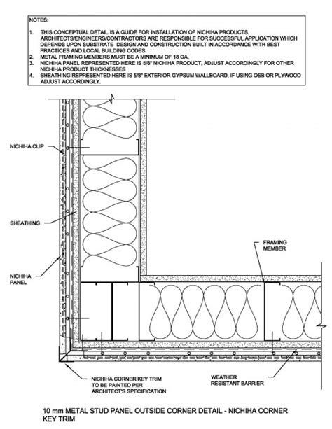 Similiar Typical Metal Stud Outside Corner Details Keywords