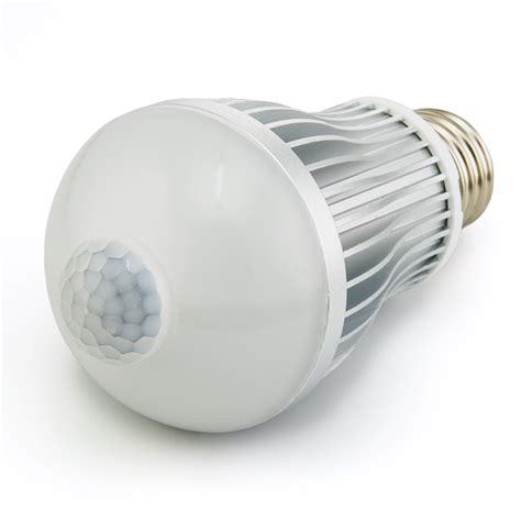 motion sensor for led lights 6 watt led a19 globe bulb with motion sensor motion