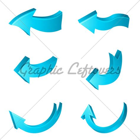 curved arrow visio different shapes of arrows 183 gl stock images