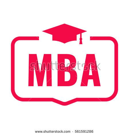 Mba Course Qualification by Mba Badge Graduation Hat Icon Flat Stock Vector 561591286
