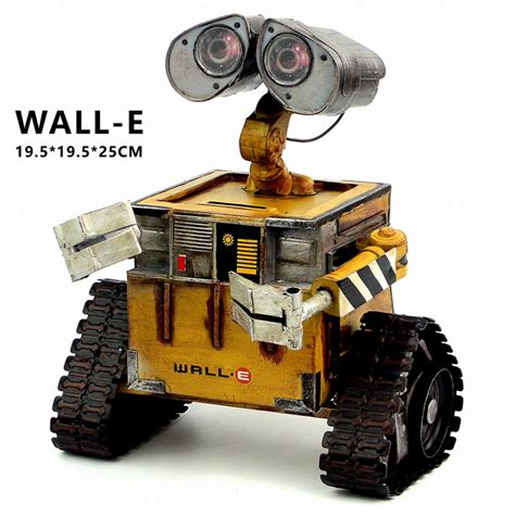 robotic wall wall e robot model cold rolled steel metal figure doll robote personal handmade