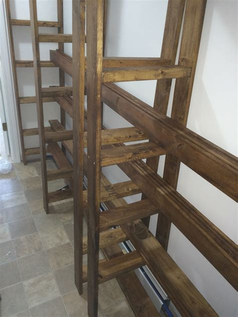 diy industrial style wood slat white build a industrial style wood slat closet syst