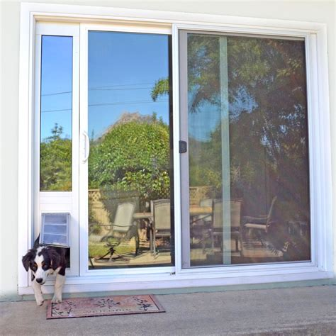 Patio Pet Doors For Sliding Glass Doors Patio Pacific Panel 3e For Sliding Glass Doors With Endura Flap Pet Door