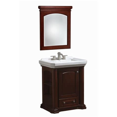 bathroom vanity mirrors home depot danze cirtangular knightsbridge 30 in vanity in mahogany