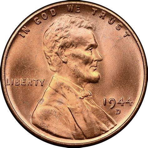 penny s 1944 d s 1c ms lincoln cents wheat reverse ngc