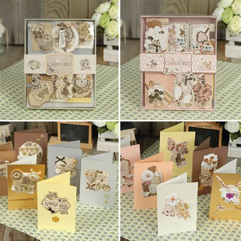 Gift Card Making - aliexpress com buy 12 cards 12 envelopes diy gift card making set birthday vintage