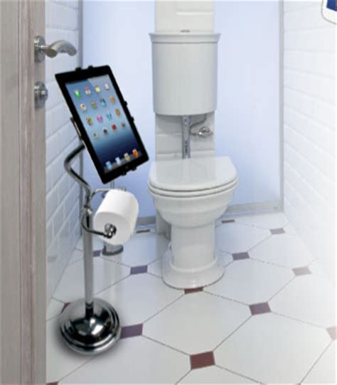 bathroom tablet stand deluxe ipad stand with toilet paper holder