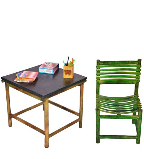 study table and chair set study table chair set in green colour by