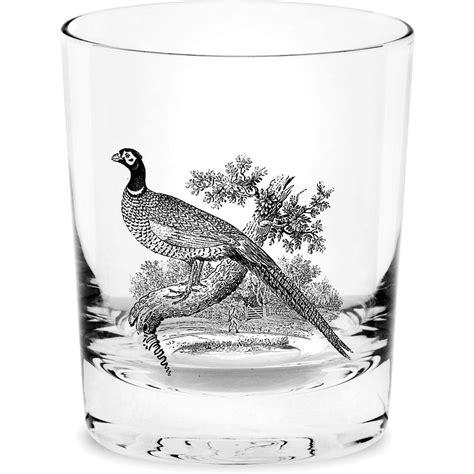 spode glasses spode glen lodge whiskey glass set of 4 pheasant louis potts