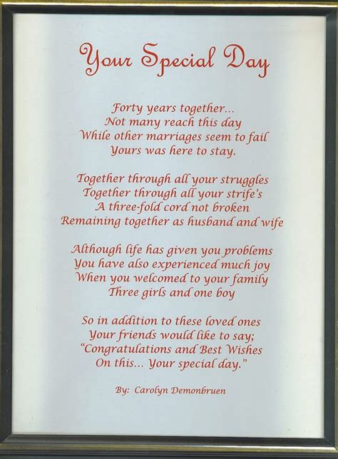 Wedding Anniversary Songs In For Parents by Anniversary Poems For Parents Eta If You Do Use This
