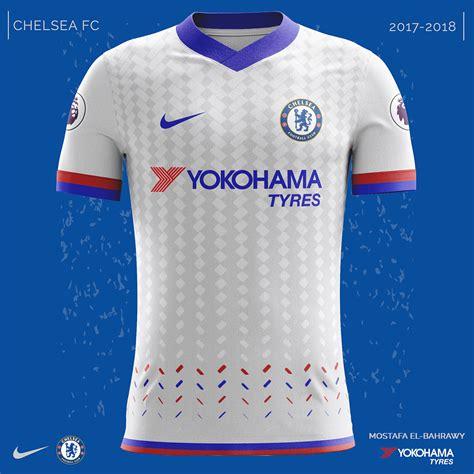 Jersey Bola Chelsea Home Nike New 2017 2018 Grade Ori chelsea nike kits 2017 2018 on behance