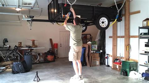 Garage Trailer Lift by Custom Overhead Garage Storage Lift For Large Garage With