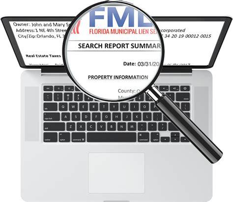 Lien Records Florida Municipal Lien Search